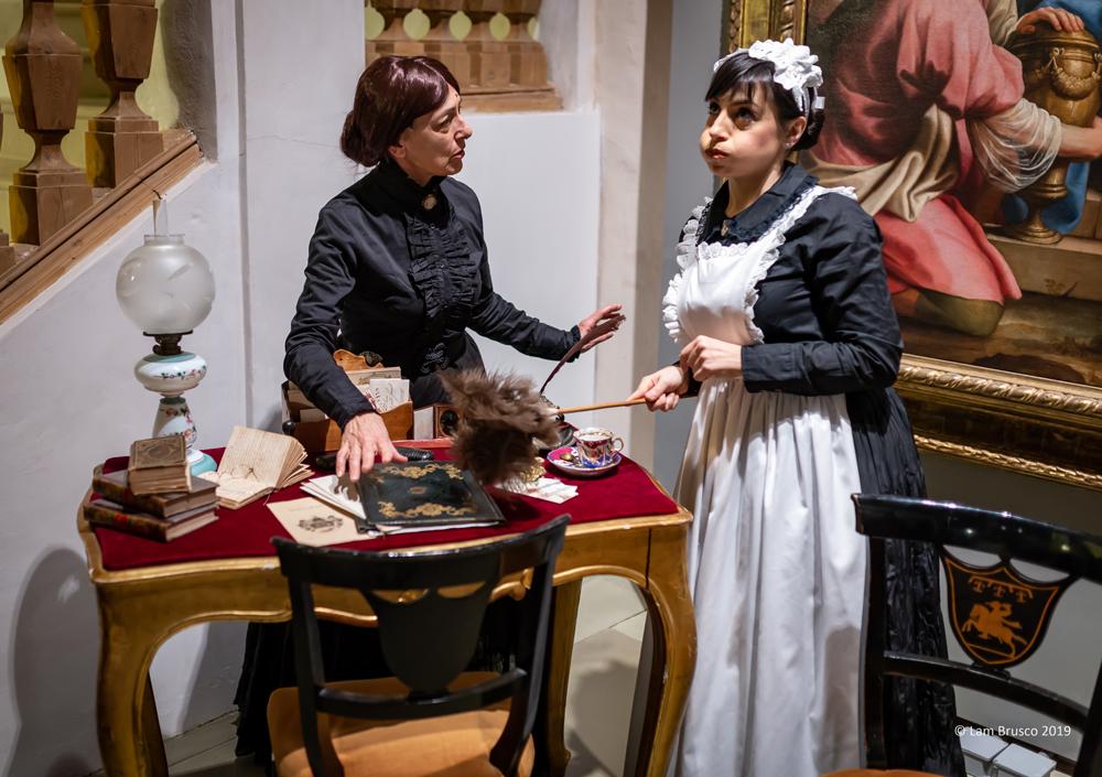 Galdina_Bonvicini_e_Claudia_Pacciarelli_storica_dell'arte_della_pinacoteca(governante_e_cameriera)